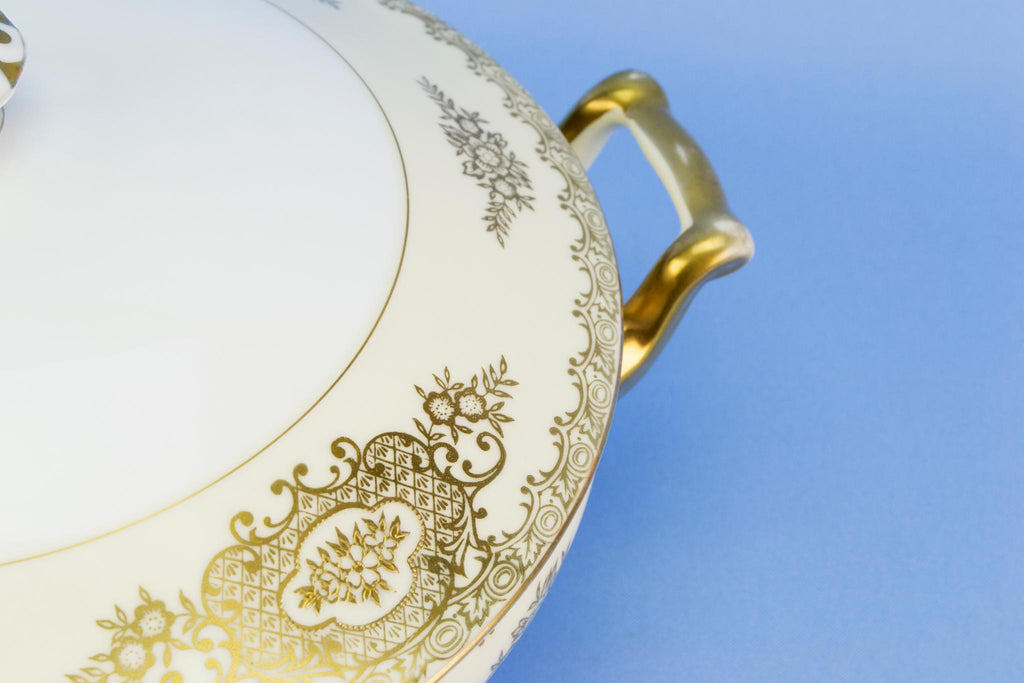 Noritake gilded serving tureen, Japanese circa 1950