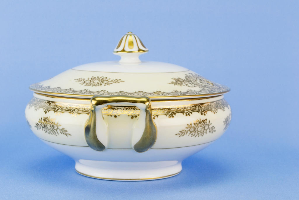 Noritake serving tureen on stand, Japanese circa 1950