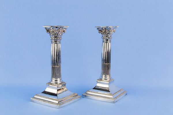 Walker & Hall silver plated candlesticks, English circa 1930