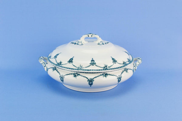 Blue and white Losol ware tureen, English 1920s