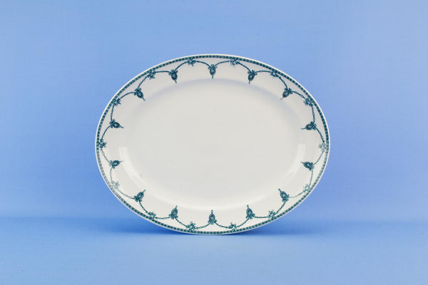Blue and white serving platter Losol ware, English 1920s