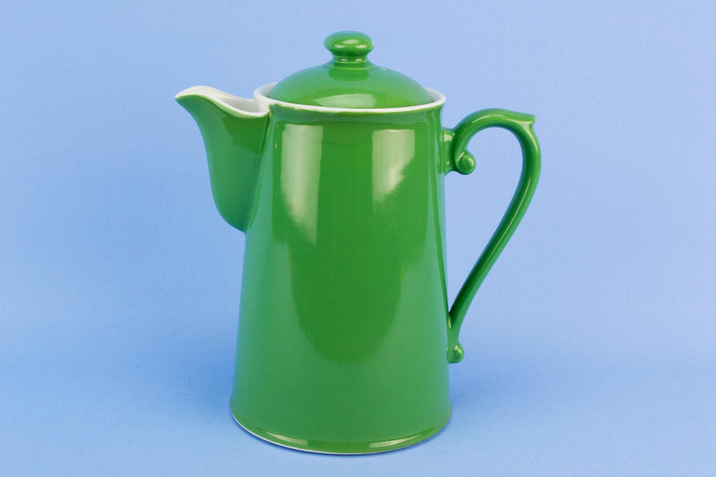 Green Mid-Century Modern Coffee Pot by Royal Worcester