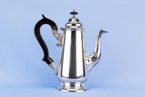 Tall Silver Plated Coffee Pot, English early 1900s