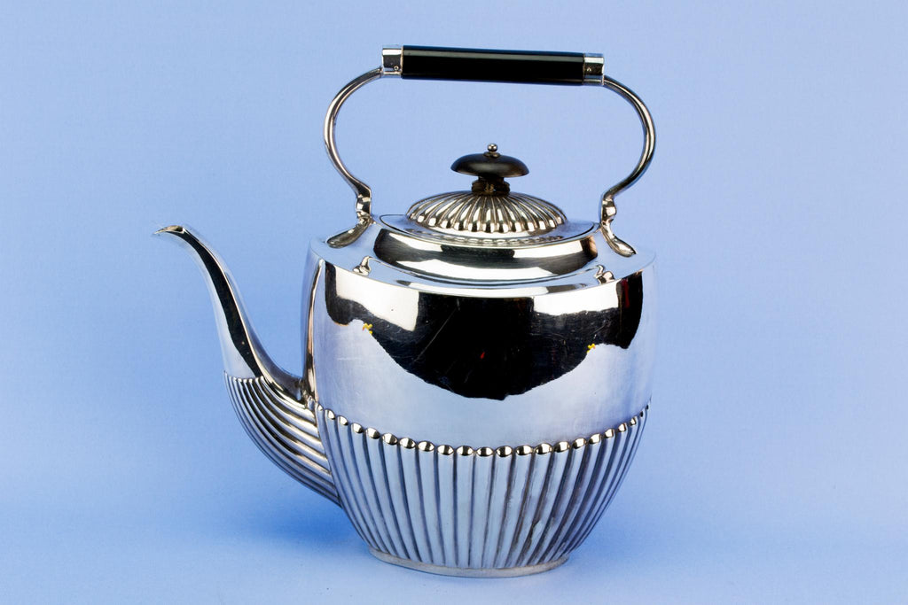 Large silver plated teapot, English circa 1930