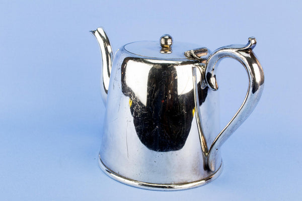 Small silver plated Art Deco teapot, English 1930s