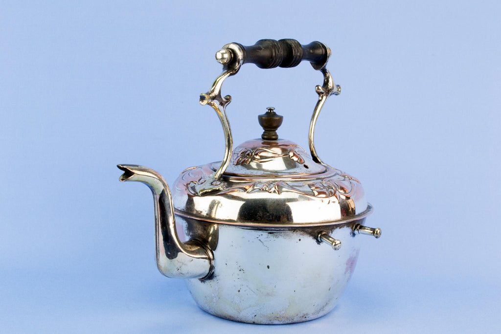 Art Nouveau Kettle on Stand, English 1890s