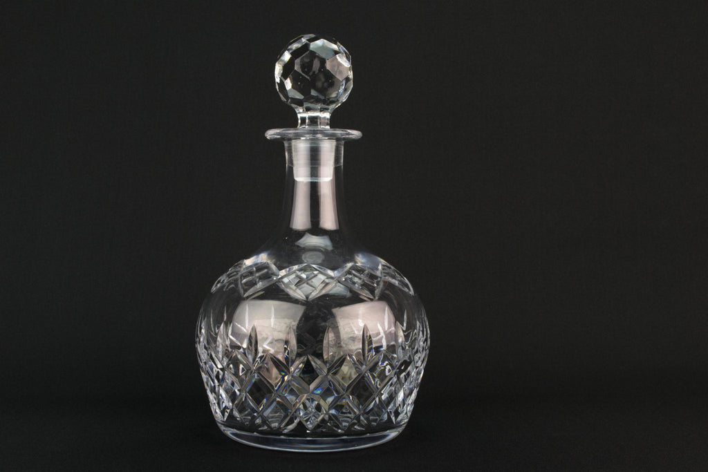 Globular cut glass wine decanter