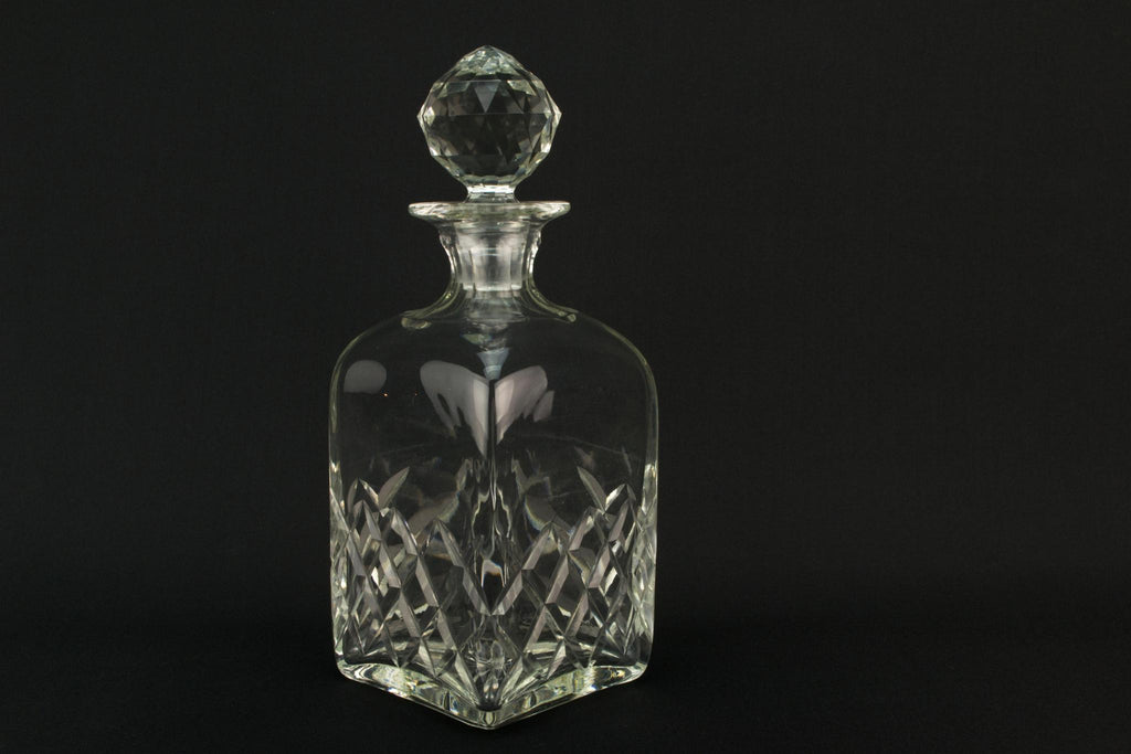 Square Whisky Cut Glass Decanter