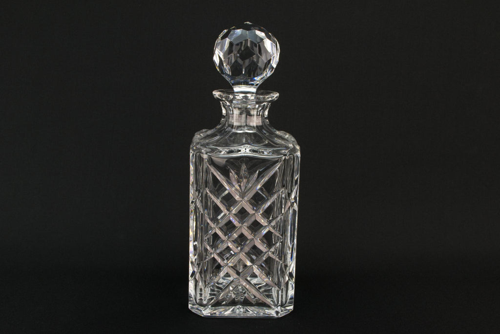 Edinburgh Crystal Cut Glass Square Decanter