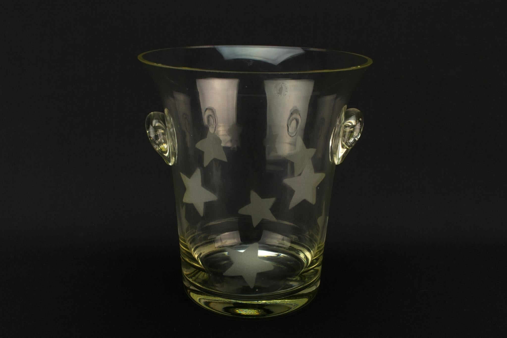 Large Blow Glass Ice Bucket or Wine Cooler