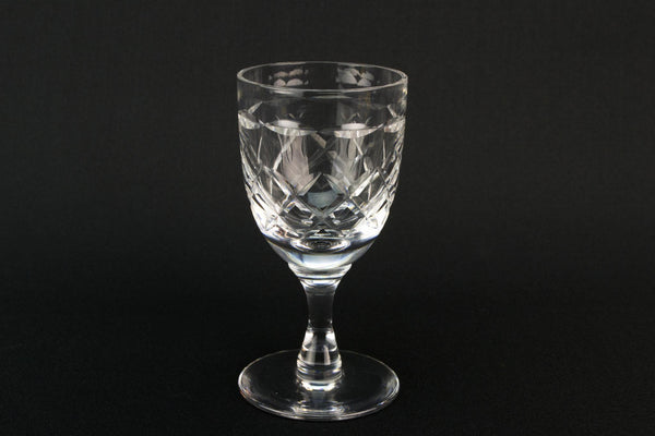 Set Of 6 Port Glasses by Tudor, English