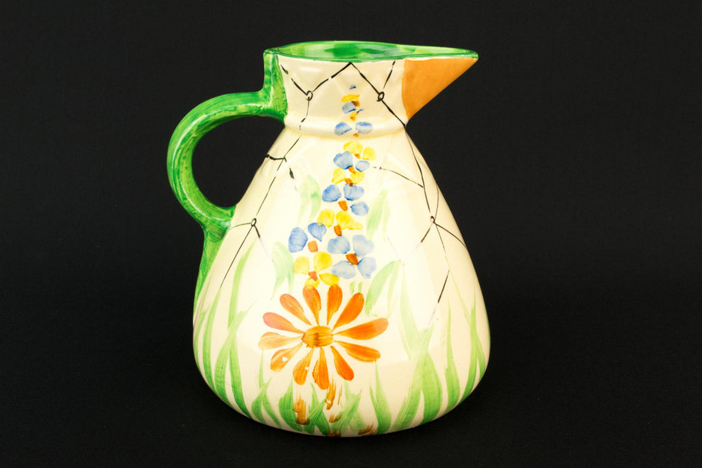 Art Deco Medium Jug, English 1930s