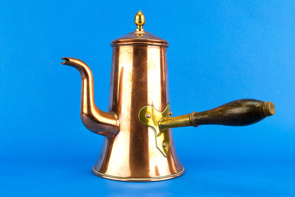 Copper Large Arts & Crafts Coffee Pot, English Circa 1900