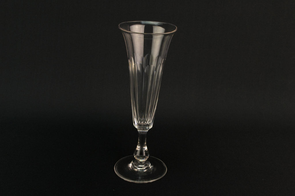 Cut Glass Champagne Flute, English Mid 19th Century