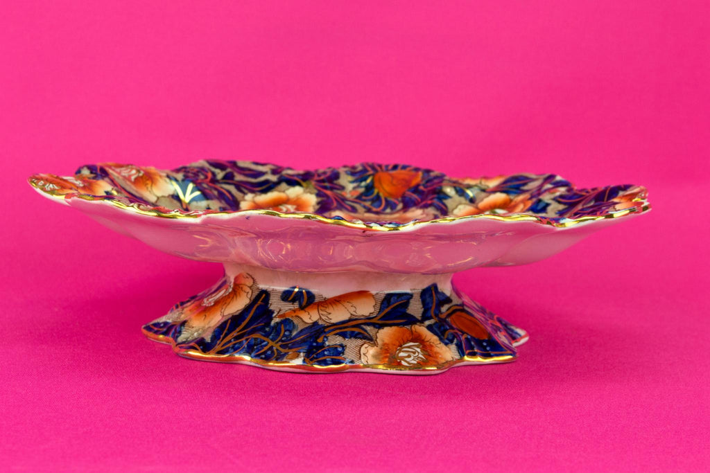 Blue and Red Arts & Crafts Cake Stand, English 1900s