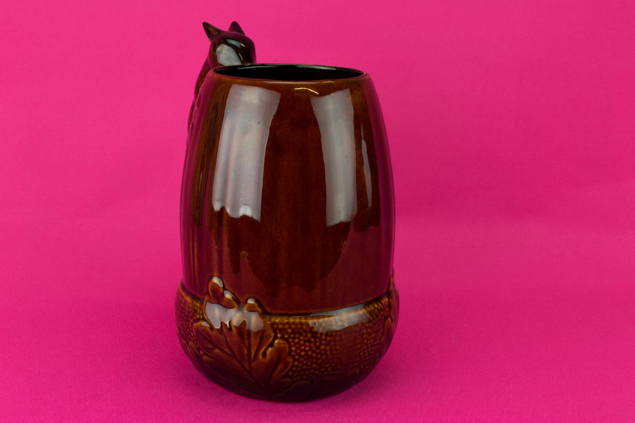 Squirrel and Acorn Water Jug, English 1950s