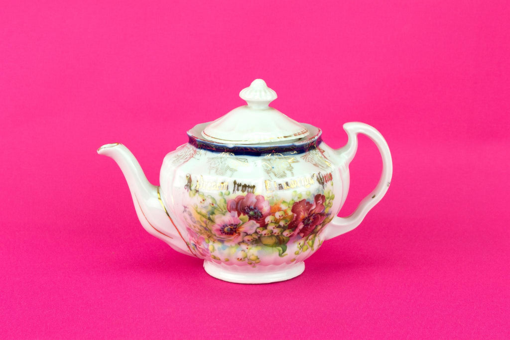Small porcelain floral Teapot, German Early 1900s