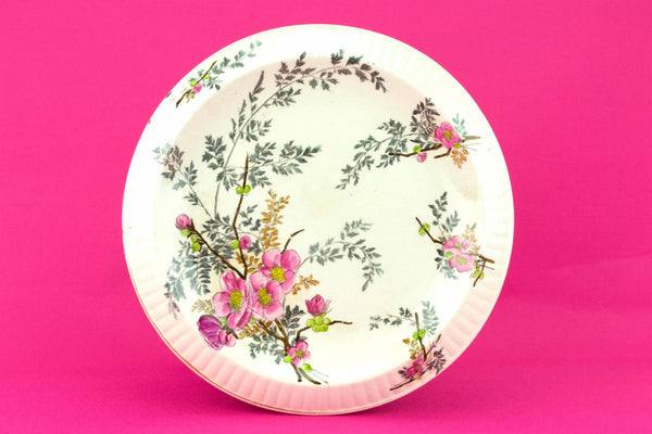 Floral Cake or Bread Serving Platter, English Late 19th Century