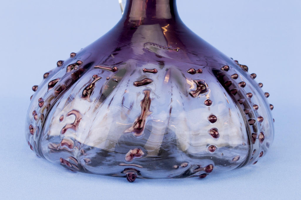 Blown Amethyst Glass Large Wine Decanter