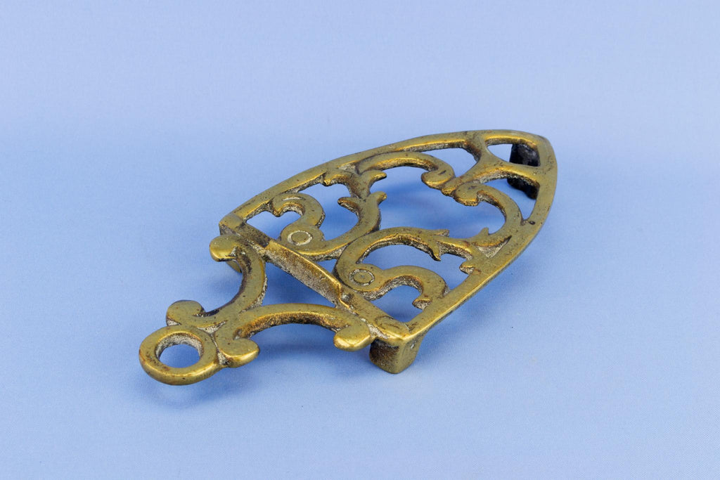 Small Brass Trivet Stand, English Late 19th Century