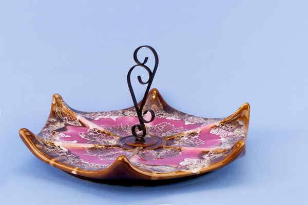 Vallauris cake serving tray, French 1970s