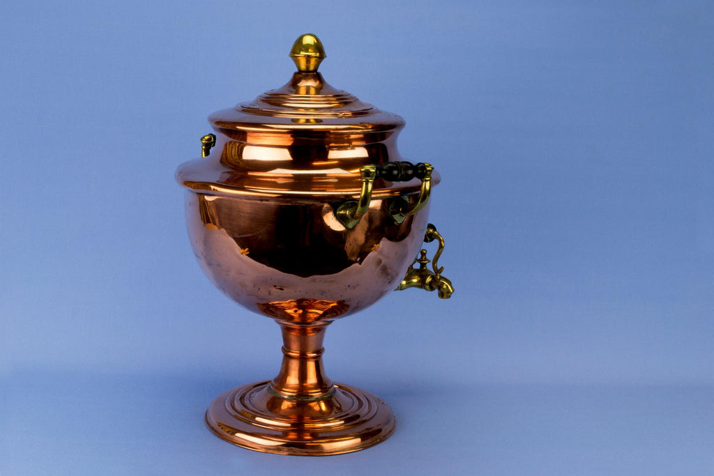 Copper Samovar or Hot Water Urn, English Mid 19th Century