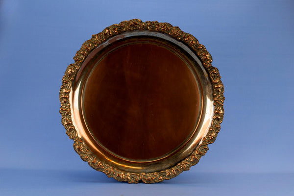 Large Copper Serving Tray, English 19th Century