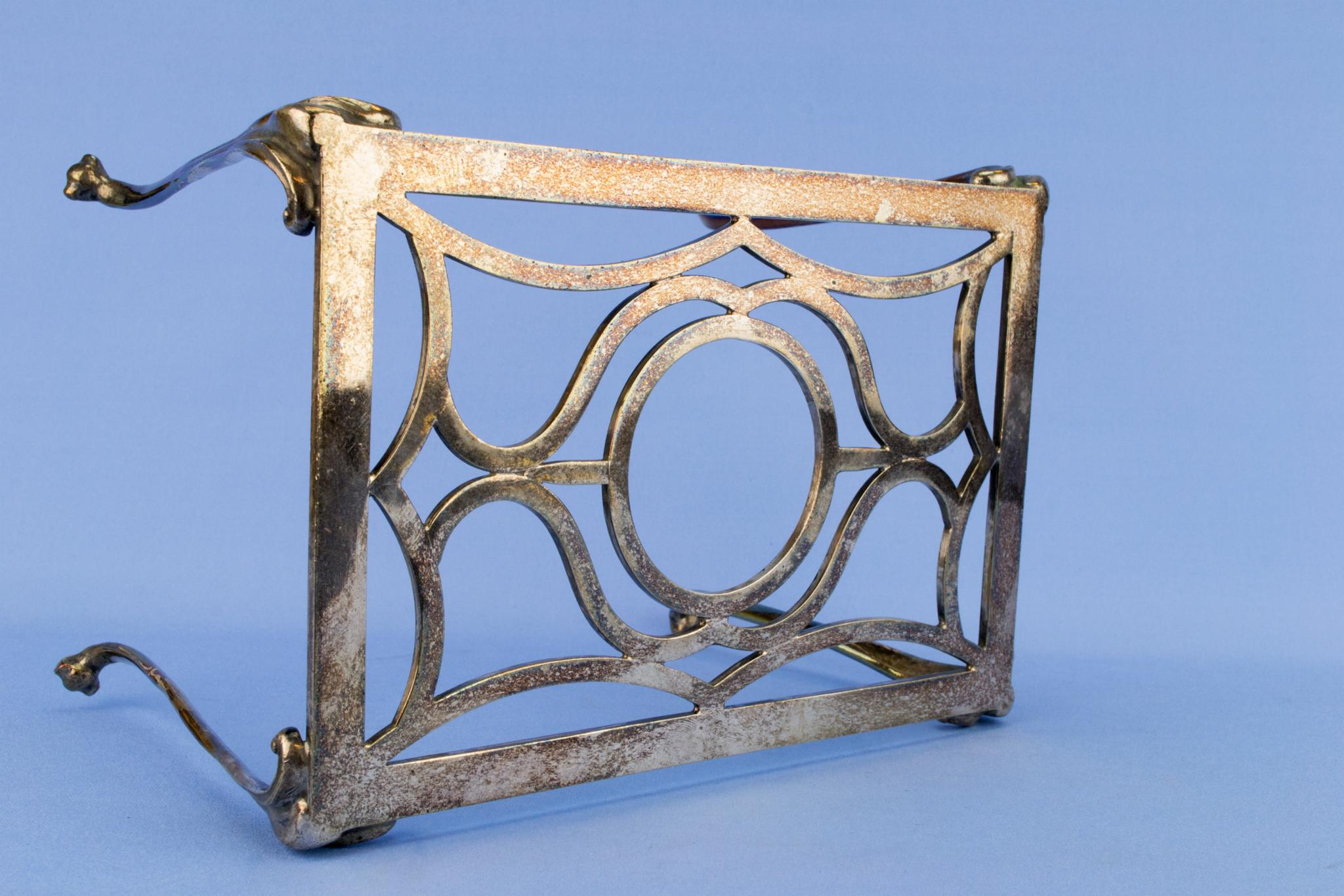 Medium Silver Plated Trivet Stand, English Circa 1910