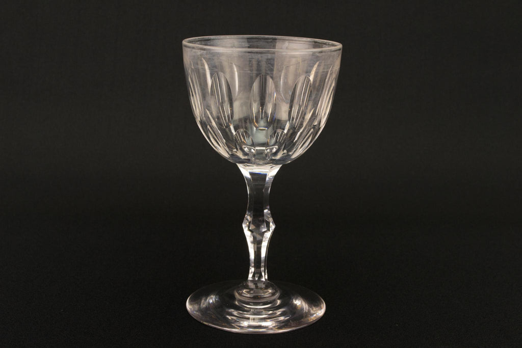 Dessert Wine Cut Glass, English Circa 1900