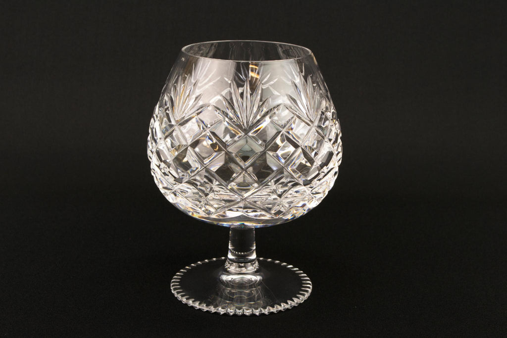 6 Medium Cut Glass Brandy Snifters