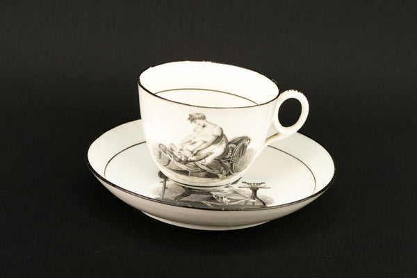 Regency Teacup and Saucer by New Hall, English 1810s