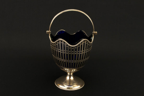 Sterling Silver Medium Sugar Bowl, English 1913