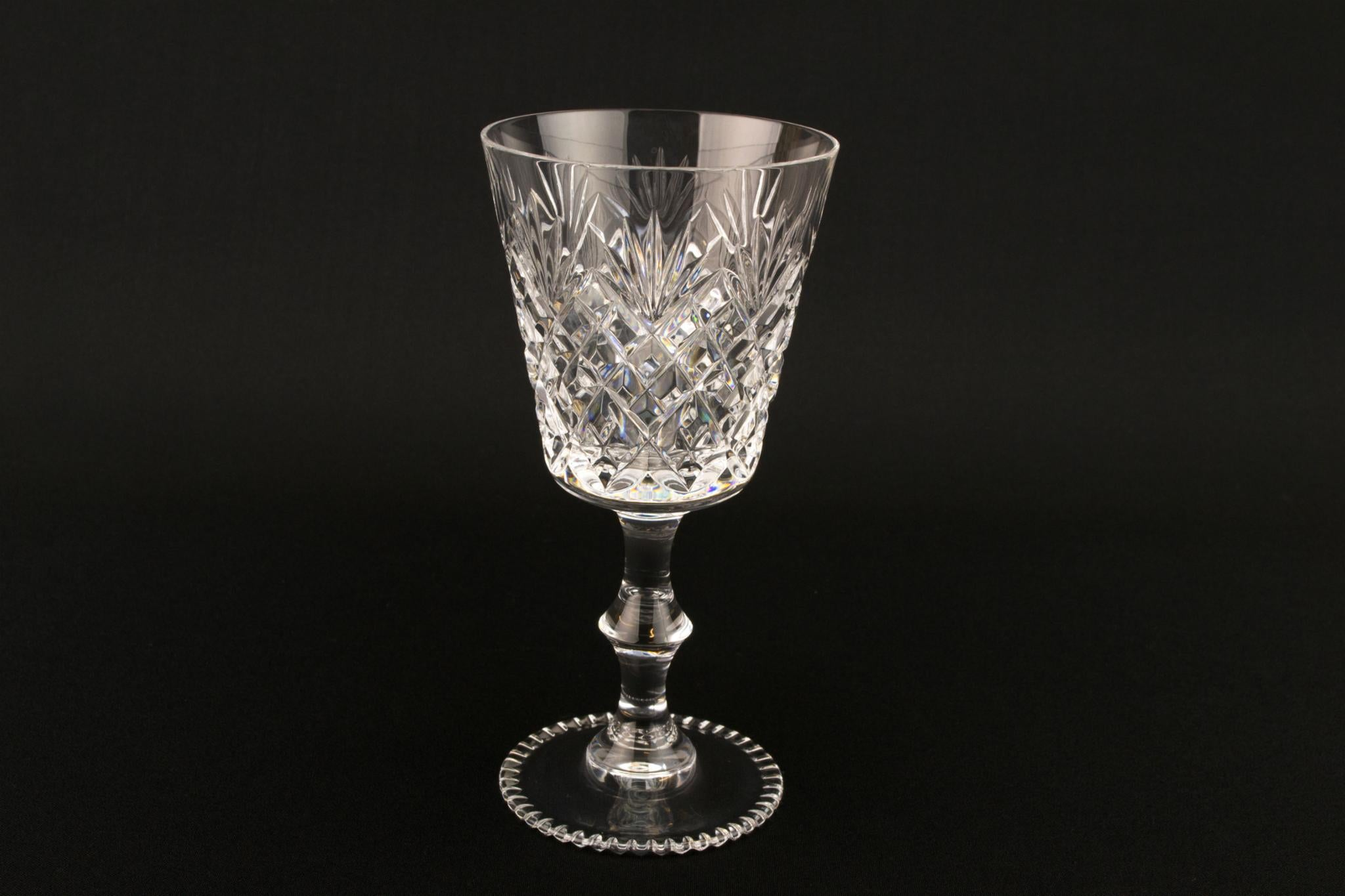 Set of 6 Wine Glasses, English Late 20th Century