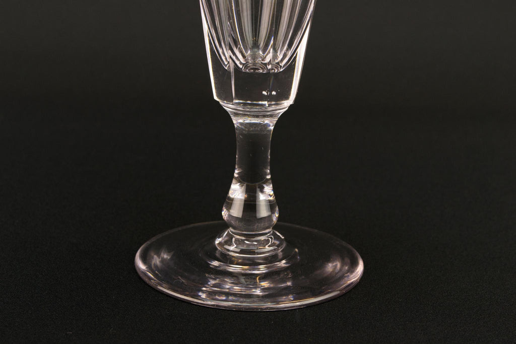 Cut Glass Georgian Champagne Flute, English Early 1800s