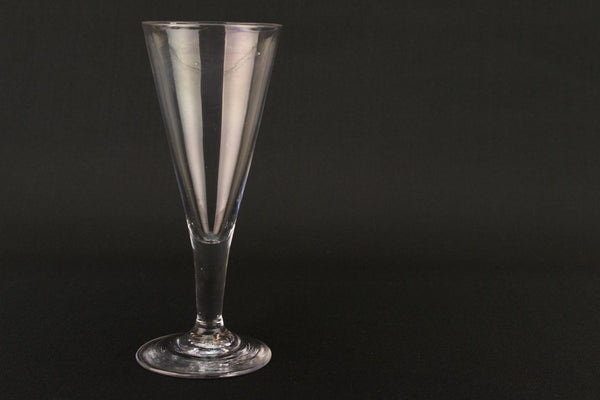 Blown Glass Georgian Champagne Flute, English Early 1800s