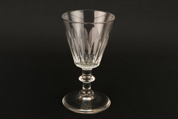 Dessert Wine Panel Cut Glass, English Mid 19th Century