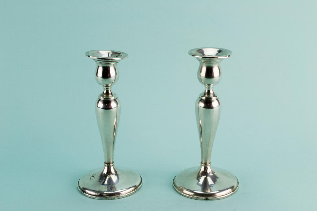 Sterling silver medium American candlesticks