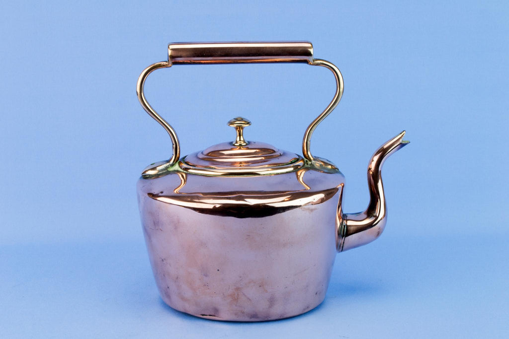 Polished Copper Kettle, English Mid 19th Century