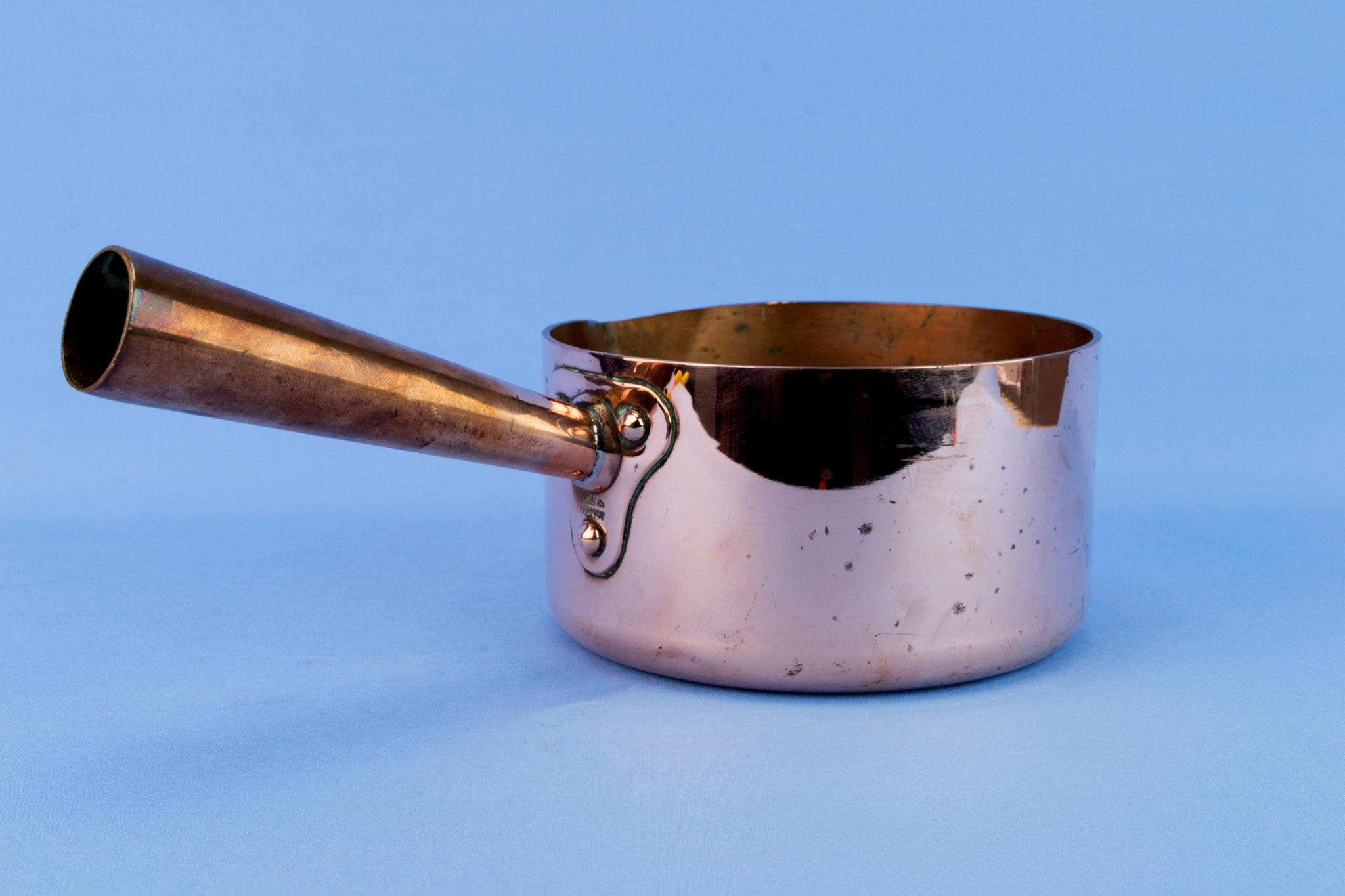 Medium Solid Copper French Cooking Pan