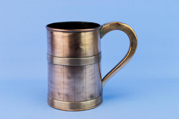 1 Pint Beer Tankard in Copper, English 1930s