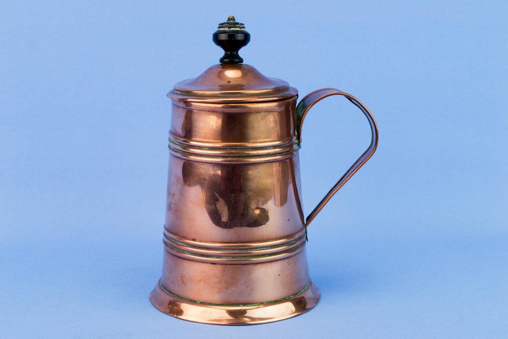 Copper Medium Arts & Crafts Tankard, English Early 1900s