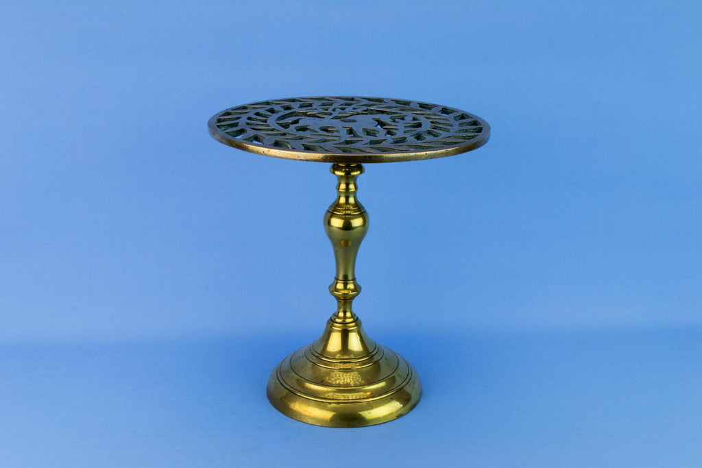 Medium Brass Arts & Crafts Stand, English Circa 1900