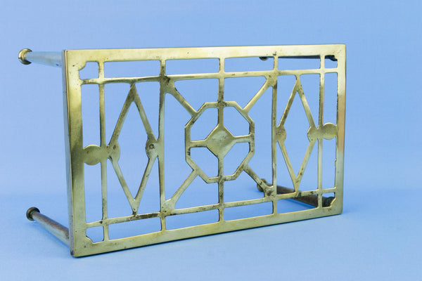 Medium Brass Arts & Crafts Stand, English Early 1900s