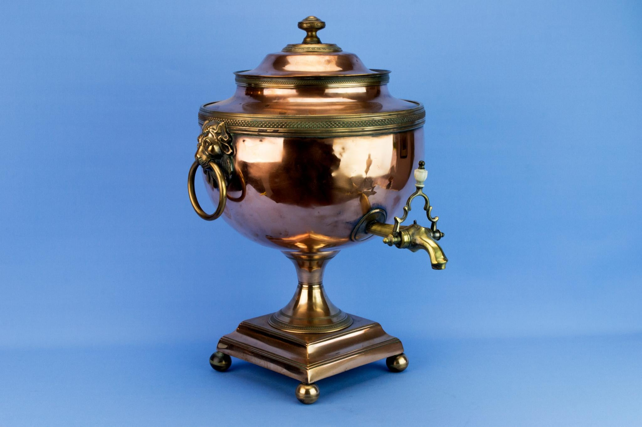 Regency Copper Hot Water Urn, English Early 1800s