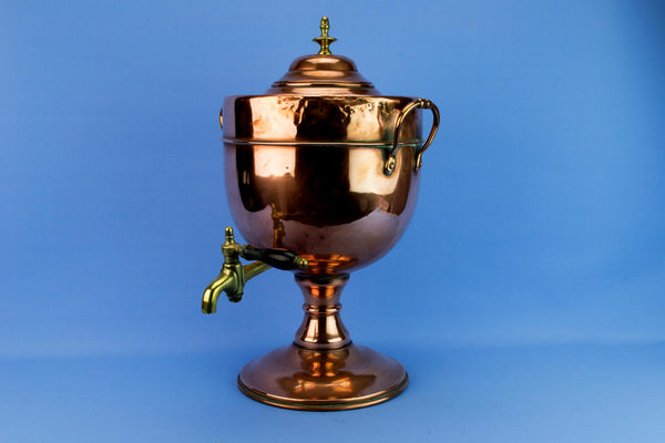 Large Copper Hot Water Urn, English Mid 19th Century