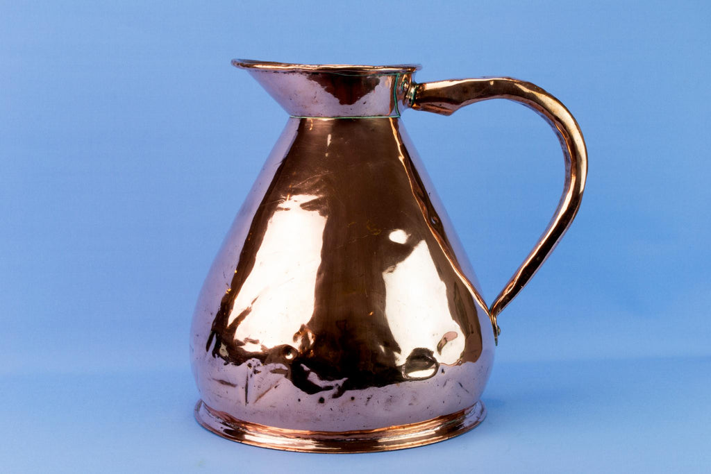 Large Copper Ale Jug, English 19th Century