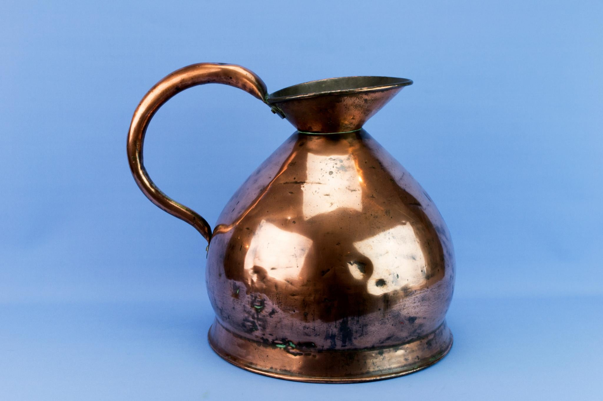 Large 9 L Copper Jug, English Circa 1900