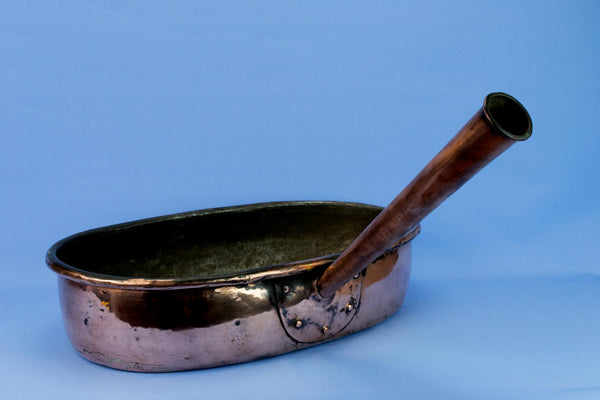 Large Oval Copper Pan, English Circa 1900