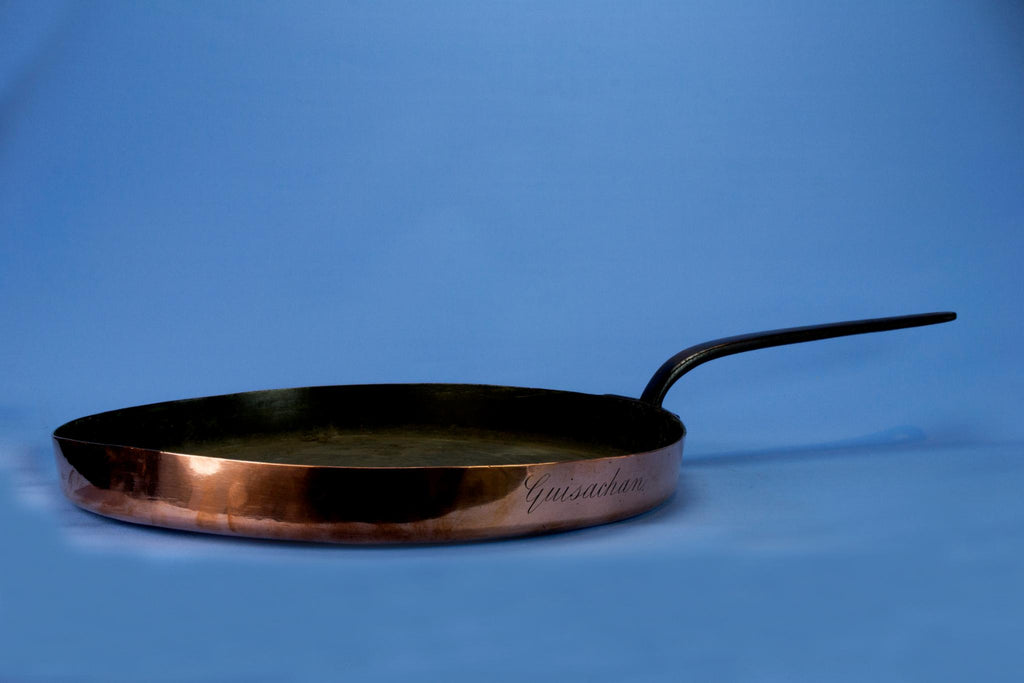Large Guisachan Copper Pan Iron Handle