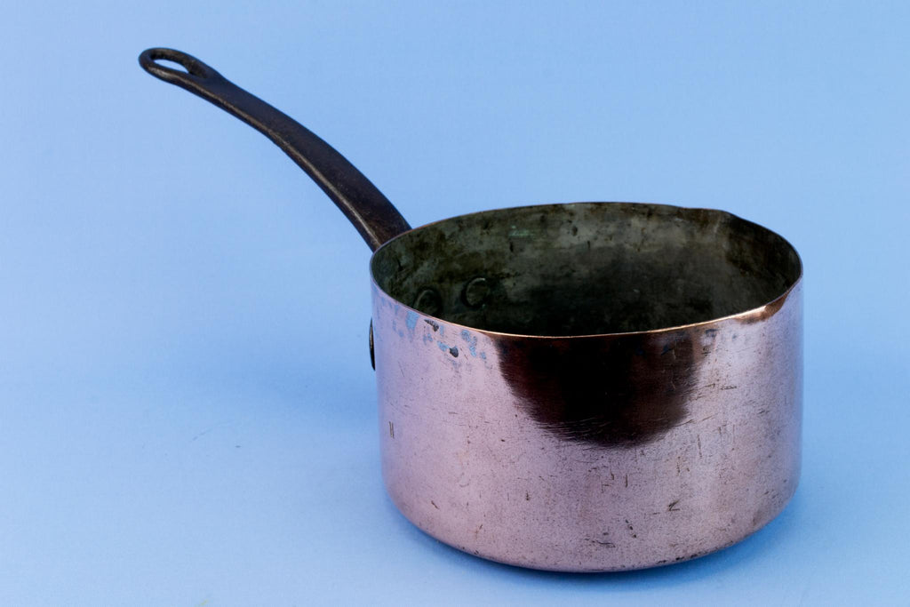 Copper Medium Sauce Pan, English Early 1900s